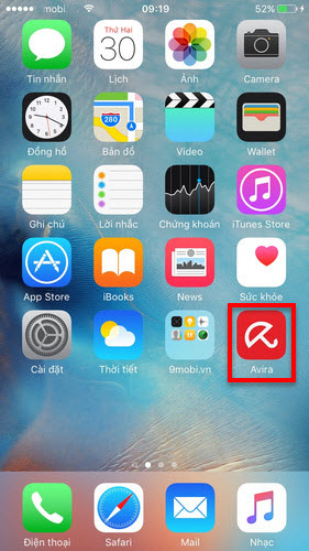 sử dụng avira cho iPhone