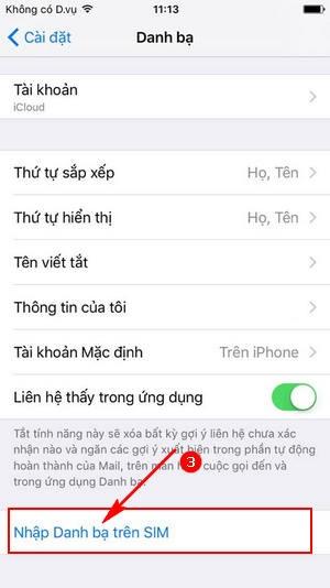 Chuyển danh bạ từ SIM sang iPhone nhanh