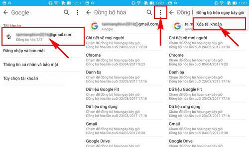 đăng xuất gmail trên điện thoại Samsung nhanh