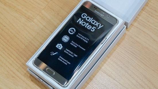 Samsung Note 5 bi treo logo