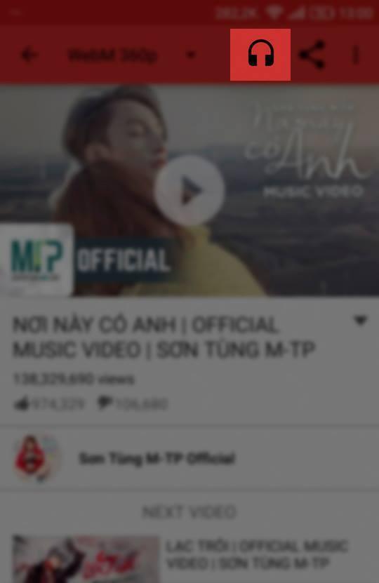 cach xem Youtube khong can mo man hinh