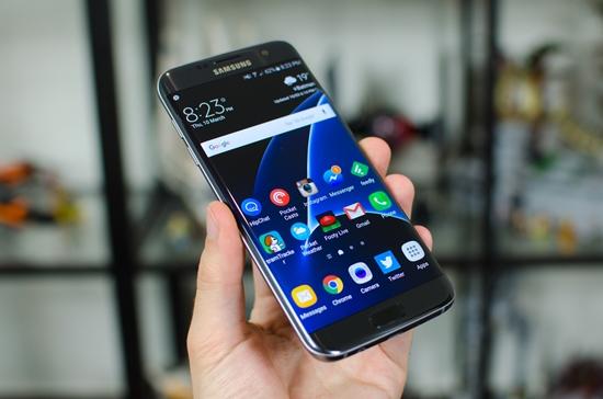 Samsung S7 Edge bi treo logo