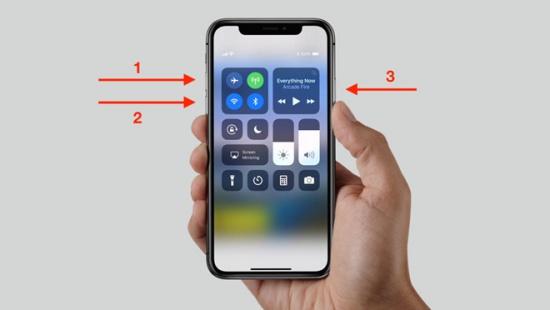 Cách tắt nguồn iPhone X khi bị treo