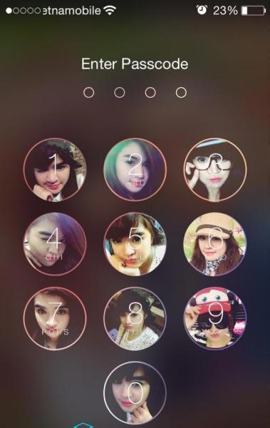 khóa màn hình điện thoại bằng hình ảnh