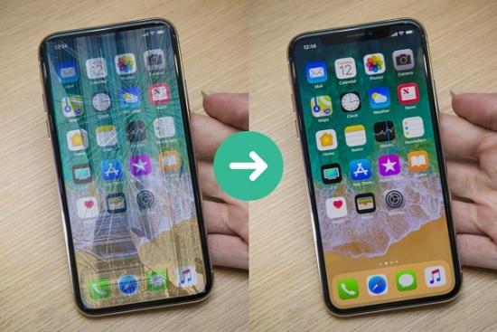 thay mat kinh iPhone XS