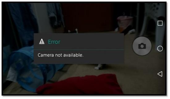 Sony XA bi loi camera