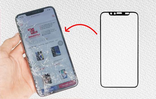 iPhone 11 bị vỡ mặt kính