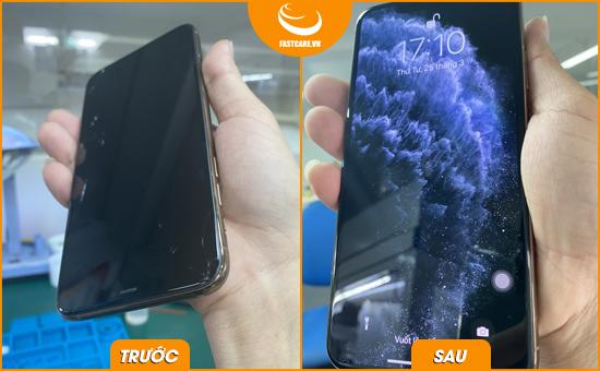 thay man hinh mat kinh iphone 11 pro max