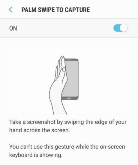 Cách chụp màn hình bằng lòng bàn tay