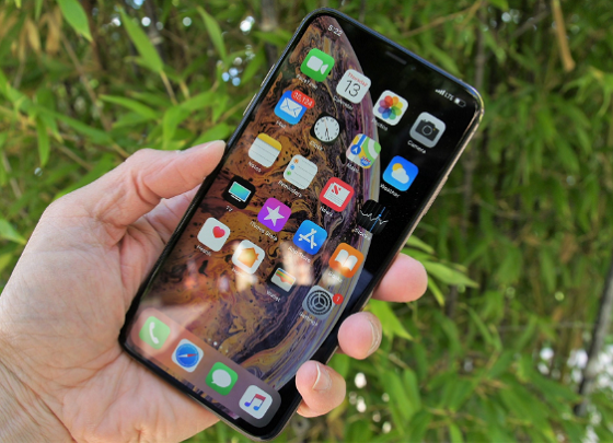 iphone xs max bi den man hinh