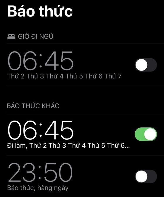 iphone khong dat duoc bao thuc