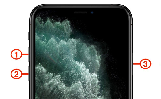 khoi dong lai iphone 11 pro max