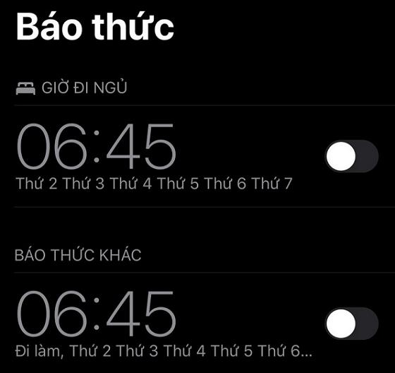loi dien thoai dat bao thuc khong keu
