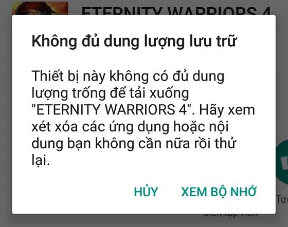 dien thoai oppo bao khong du dung luong