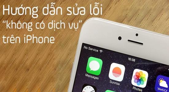 iPhone không hiển thị dịch vụ là sự cố thường gặp