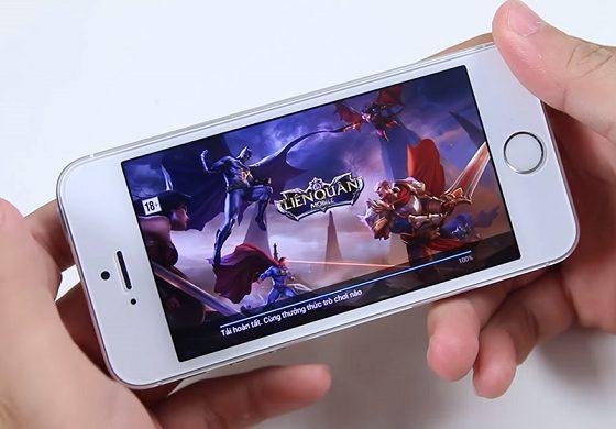 loi dang choi game bi vang ra tren iphone