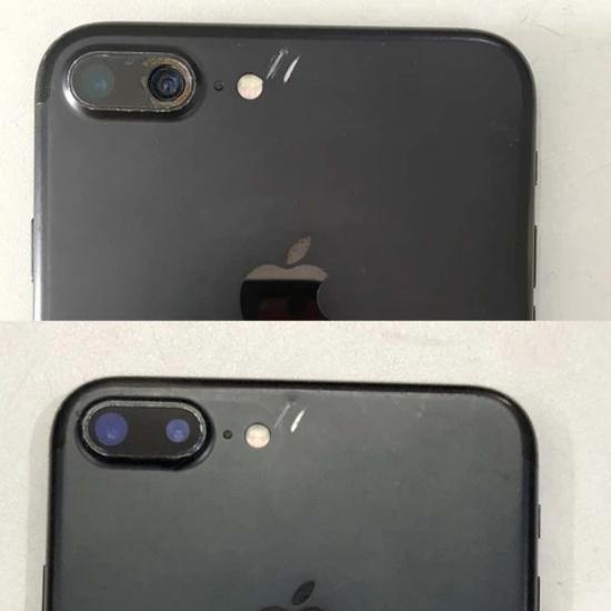 Lớp kính bên ngoài của camera iPhone 7 Plus bị hư hỏng