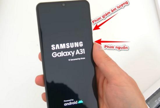 cach chup man hinh Samsung A31