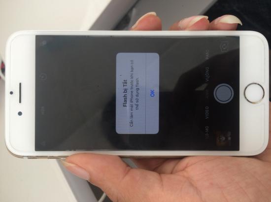 Flash bị tắt do quá nóng trên iPhone