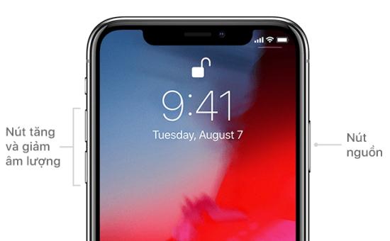 Khởi động lại iPhone XR