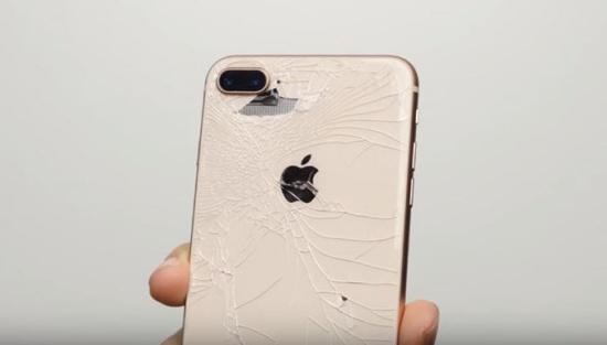 Mặt kính sau iPhone 8 Plus bị bể