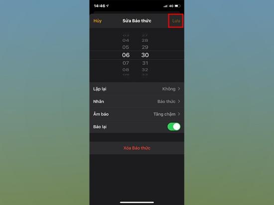 Bạn có thể tắt báo lại báo thức iPhone nếu muốn