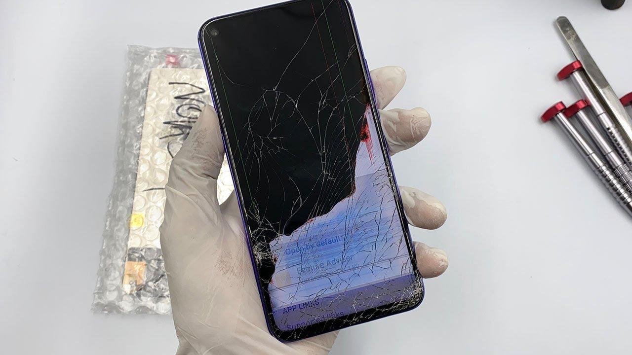 Chiếc Huawei Nova 5T cần thay mới màn hình