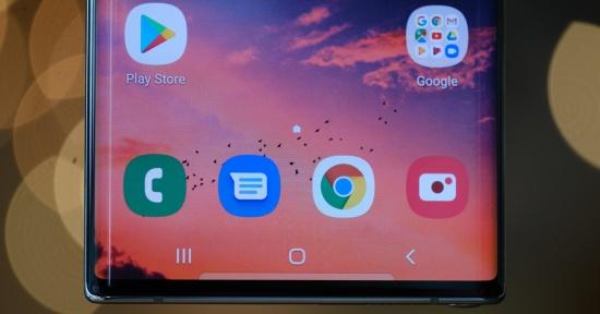 Samsung Note 10 Plus bị chảy mực màn hình